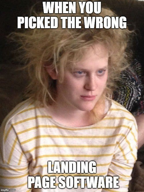 landing page tool meme