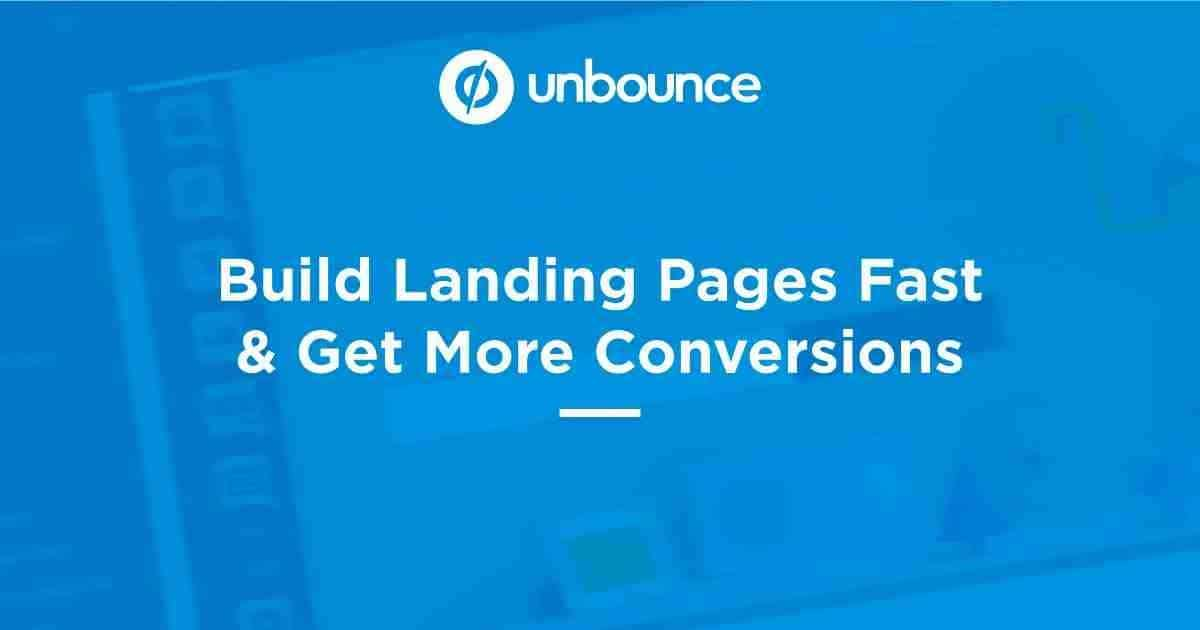 Unbounce Pricing, Coupon, and Features 1