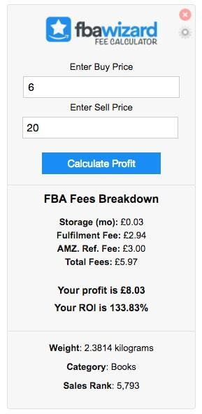 uk fba fee calculator